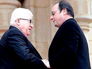 Fransa Cumhurbaşkanı Hollande Bağdat'ta