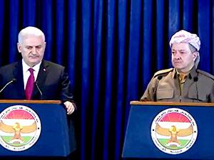 Barzani ve Yıldırım'dan ortak basın açıklaması