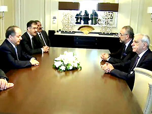 Mesud Barzani, Ahmet Türk ile görüştü