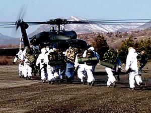 Lice'de 4 tabur asker 17 helikopterle operasyon