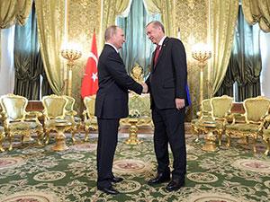 Erdoğan-Putin Moskova'da görüştü