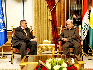 Mesud Barzani, BM heyeti ile görüştü