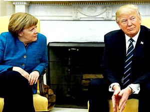 Trump'tan Merkel ile 'tokalaşma krizi' açıklaması