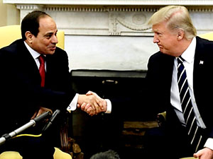 Trump: Herkes bilsin diye söylüyorum, Sisi'nin arkasındayız