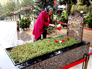 Meral Akşener, Türkeş'in kabrini ziyaret etti