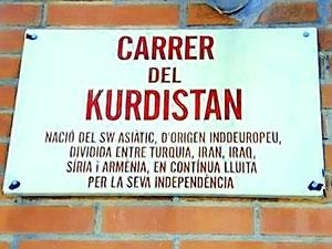 Katalonya'da Kürdistan sokağı
