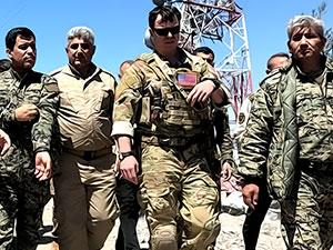 Koalisyon yetkilileri TSK'nin bombaladığı yerde