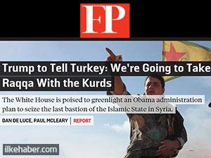 'Erdoğan Rakka'yı Beyaz Saray'da öğrenecek'