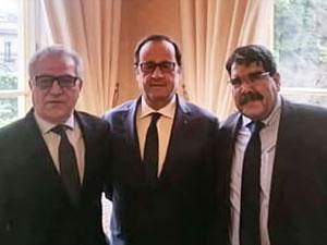 Hollande, Salih Müslim ile görüştü