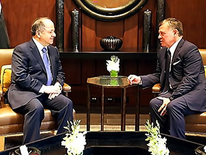 Mesud Barzani, Kral Abdullah'la görüştü
