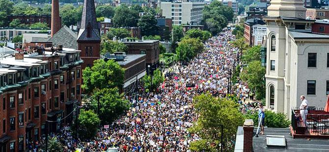 ABD'de ırkçılık karşıtı dev protestolar