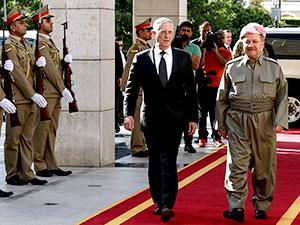 ABD Savunma Bakanı Mattis, Mesud Barzani ile görüştü