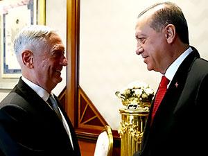 Erdoğan, ABD Savunma Bakanı Mattis ile görüştü