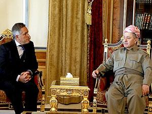 Mesud Barzani büyükelçileri kabul etti: Referandumdan geri dönüş yok