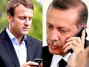 Erdoğan Macron'la telefonda görüştü