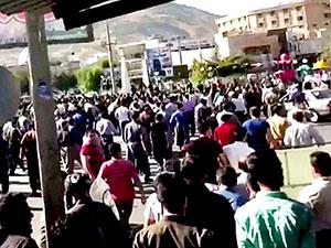 İran'da Kürtler protesto için sokağa çıktı