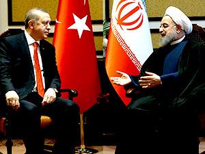 Erdoğan Kazakistan'da Ruhani ile görüştü