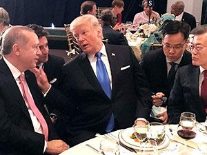 Erdoğan ve Trump yemek sırasında bir süre sohbet etti