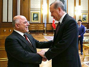 Erdoğan, Irak Başbakanı İbadi'yle görüştü