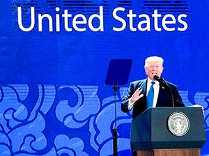 Trump'tan Asya-Pasifik'te ticaret uyarısı