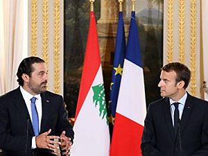 Macron'dan Lübnan Başbakanı'na çağrı
