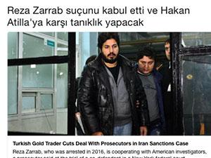 New York Times'tan Reza Zarrab için 'Türkçe' mesaj