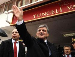 Cumhurbaşkanı Gül Tunceli'de