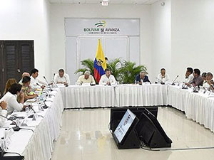 Kolombiya'da hükümet ve FARC liderleri bir araya geldi