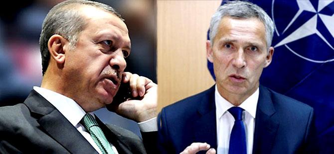Erdoğan NATO Genel Sekreteri'yle Suriye'yi Konuştu