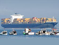 332 metrelik gemi geçti, Çanakkale Boğazı kapandı