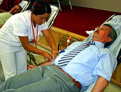 Domuz gribi kan bağışını vurdu