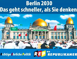 Alman ırkçı partiden provokatif afiş