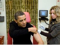 Obamalar Domuz Gribi Aşısı Oldu