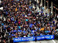 Barselona'da yüz binler mültecilerler için eylem yaptı