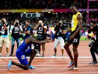 Usain Bolt son yarışında üçüncü oldu