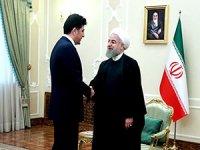 Neçirvan Barzani, Ruhani ile görüştü