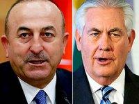 Çavuşoğlu, Tillerson ile Afrin'i görüştü
