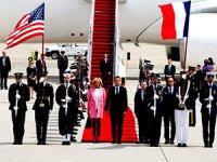 Fransa Cumhurbaşkanı Macron Washington'da